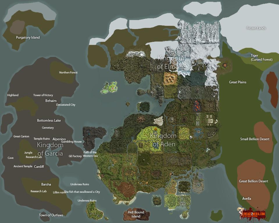 Карта сундуков в lineage 2 high five